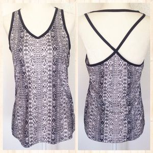 Athleta Limitless Printed Strappy Tank Top Small